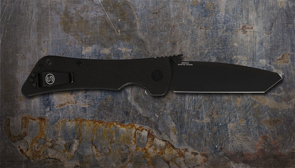 Southern Grind Knife - Bad Monkey Folding Modified Tanto - Cerakote Armor Black