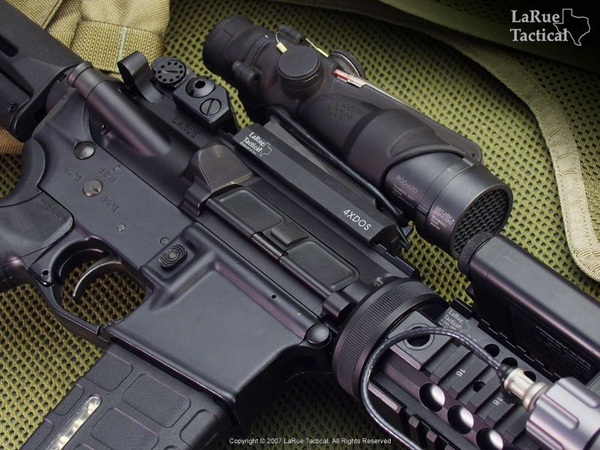 Trijicon ACOG USMC Rifle Optic (TA31 RCO with M4 Reticle) and LaRue Tactical LT100 QD Mount
