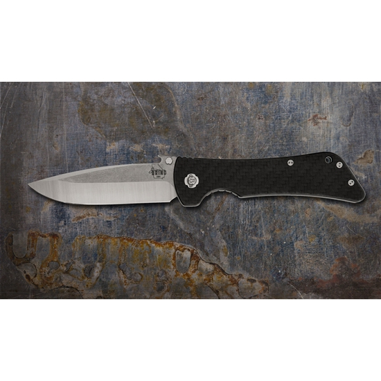 Southern Grind Knife - Bad Monkey Folding Drop Point - Tumbled Satin