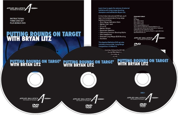 Putting Rounds on Target with Bryan Litz, 4-Disk Dvd Set.