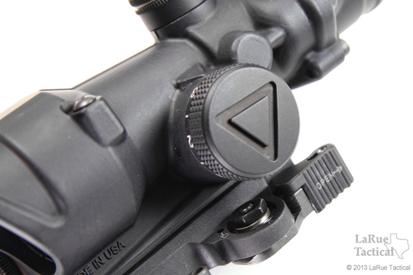 Trijicon 4x32 TA02 ACOG: LED Scope, Battery Illuminated Red Crosshair .223 Reticle w/ LT100 QD Mount