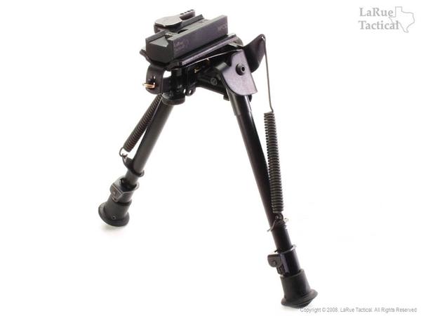 Harris Bipod LM-S and LaRue Tactical LT130 QD Mount