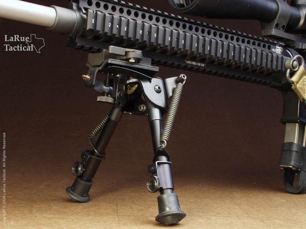 Harris Bipod BR-S and LaRue Tactical LT130 QD Mount