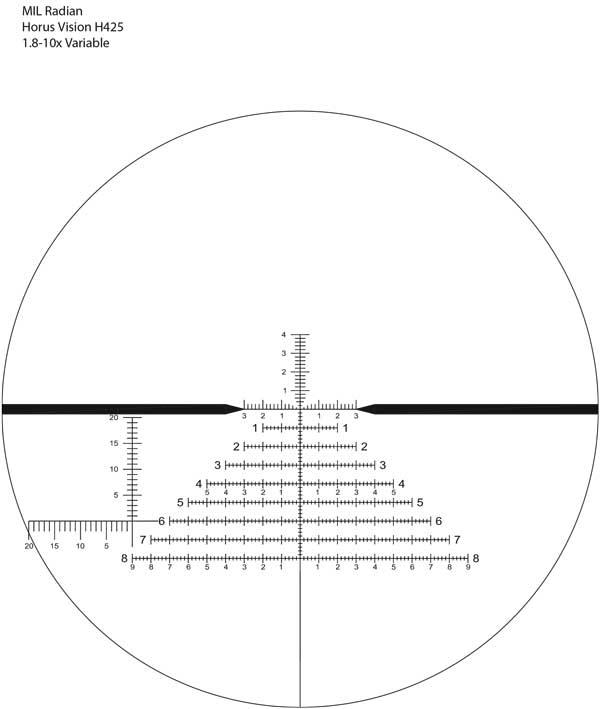 US Optics 1.8-10x42mm B-10 and LaRue Mount