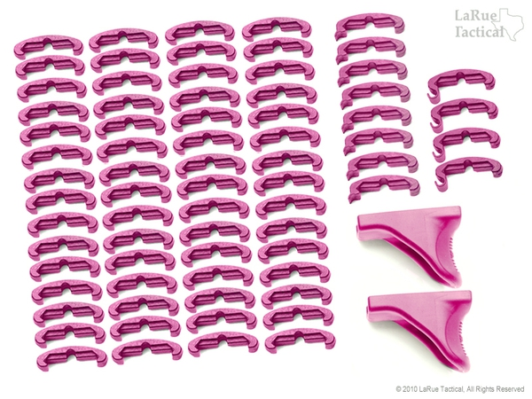 LaRue Tactical HandStop and IndexClip PINK Combo, 74 Total Piece Set