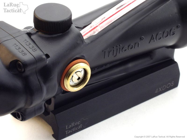 Trijicon TA11F ACOG 3.5x35 Scope with Red Chevron BAC Reticle AND LaRue Tactical LT100 QD Mount