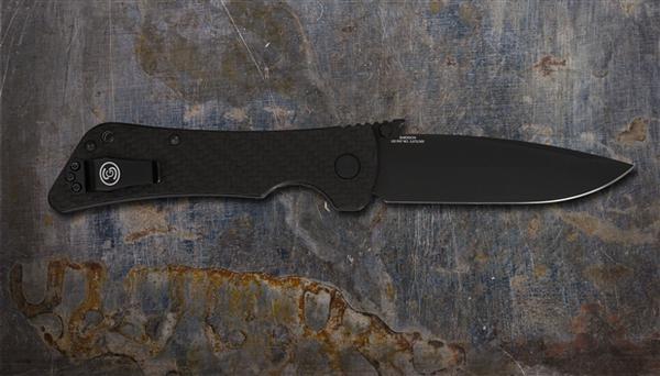 Southern Grind Knife - Bad Monkey Folding Drop Point - Cerakote Armor Black