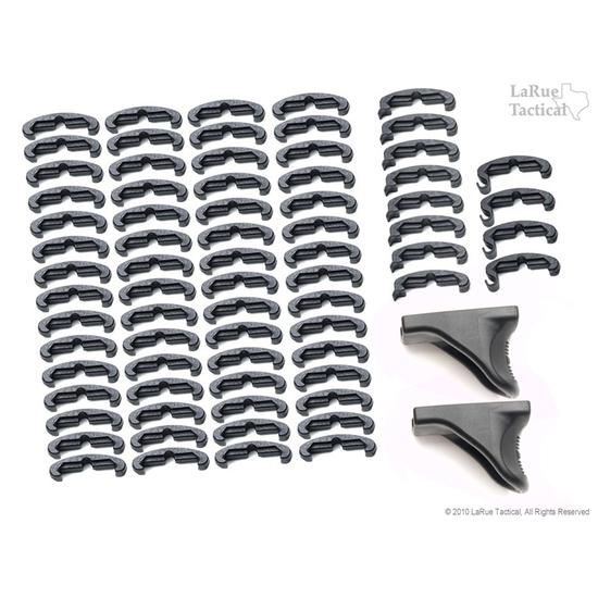 LaRue Tactical HandStop and IndexClip Combo, 74 Total Piece Set