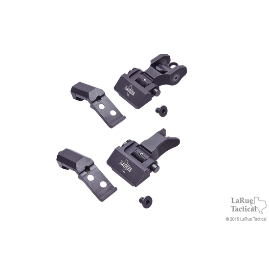 Troy Offset Sight Set, Front and Round Rear