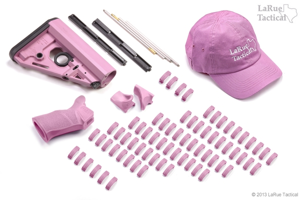 LaRue Tactical Polymer PINK Combo Package