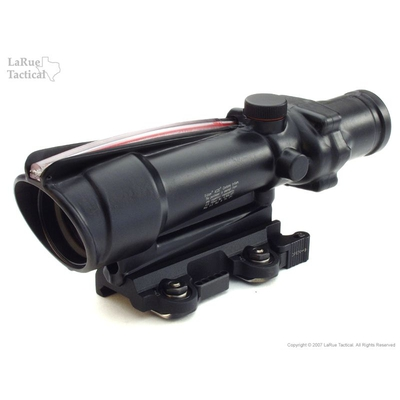 Image 1 of Trijicon TA11F ACOG 3.5x35 Scope with Red Chevron BAC Reticle AND LaRue Tactical LT100 QD Mount