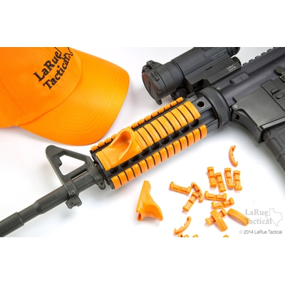 Image 2 of LaRue Tactical HandStop and IndexClip Blaze Orange Combo, 74 Total Piece Set