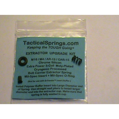 Image 1 of Extractor Upgrade kit/AR-15/Mil-Spec/Extra Power 5-Coil Extractor Spring, Extractor Insert and Viton O-Ring