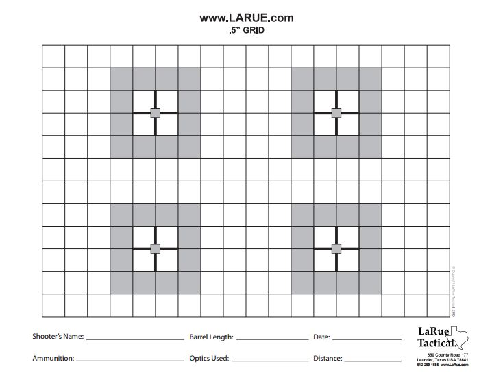picture regarding Printable Sniper Targets identify Downloads - LaRue Tactical