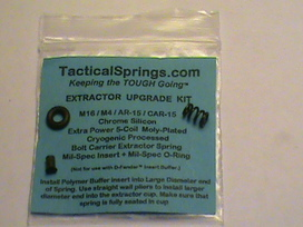 Extractor Upgrade Kit Ar 15 Mil Spec Extra Power 5 Coil Extractor Spring Extractor Insert And Viton O Ring Larue Tactical