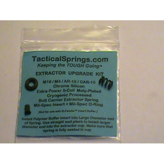 Image of Extractor Upgrade kit/AR-15/Mil-Spec/Extra Power 5-Coil Extractor Spring, Extractor Insert and Viton O-Ring