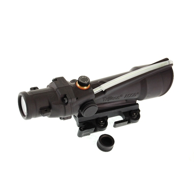 Image 1 of Trijicon ACOG 3.5x35 Illuminated Scope TA11J with Green Crosshair .308 Ballistic Reticle and LT100 ACOG Mount QD