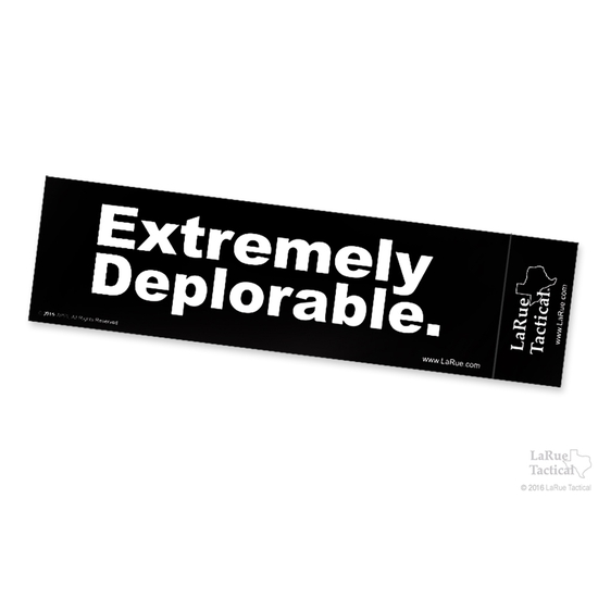 Image of LaRue Bumper Stickers - Extremely Deplorable
