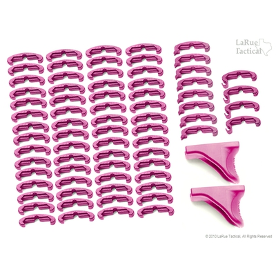 Image 1 of LaRue Tactical HandStop and IndexClip PINK Combo, 74 Total Piece Set