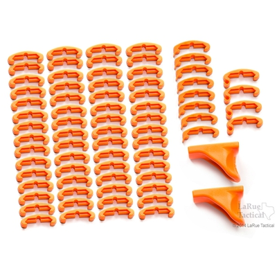 Image 1 of LaRue Tactical HandStop and IndexClip Blaze Orange Combo, 74 Total Piece Set