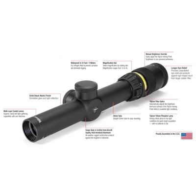 Image 2 of Trijicon AccuPoint 1-4x24 30mm Riflescope TR24R W/ LaRue Tactical LT 104-30