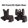 Image of Sight Set / Troy MICRO Low Profile Folding Battle Sights Front & Rear - BLACK
