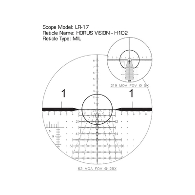 Image 2 of US Optics 3.2-17x50mm FDN 17x and LaRue Mount