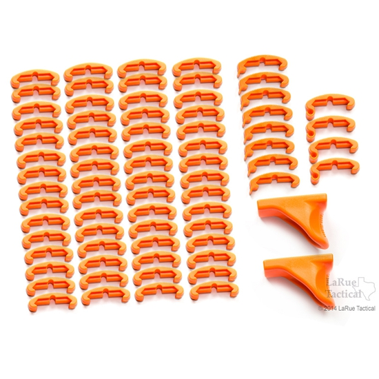 Image of LaRue Tactical HandStop and IndexClip Blaze Orange Combo, 74 Total Piece Set