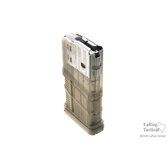 Lancer L7 Advanced Warfighter Magazine, 20 Round, Transparent FDE for 7.62mmX51 (.308win)