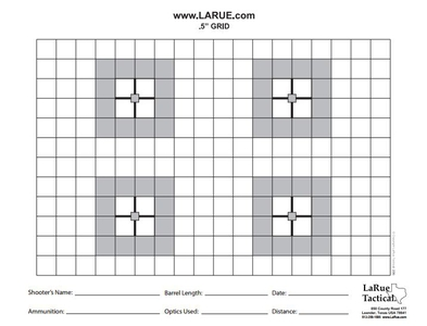 picture relating to Printable Sniper Targets titled Downloads - LaRue Tactical