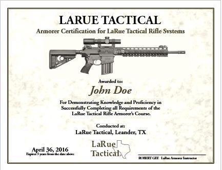 LaRue Rifle Owner Armorer's Class